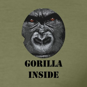 Gorilla inne - Slim Fit T-skjorte for menn