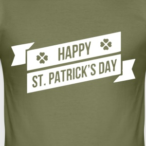 HAPPY ST PATRICK S DAY - Slim Fit T-skjorte for menn