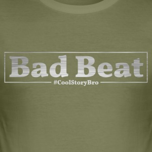 Poker Bad Beat - Slim Fit T-skjorte for menn