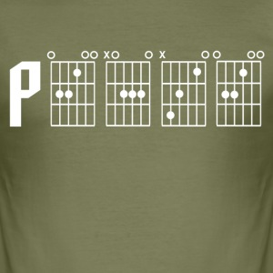 Peace through the power of a guitar chord - Men's Slim Fit T-Shirt