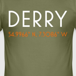 Derry Ireland minimalist coordinates - Men's Slim Fit T-Shirt