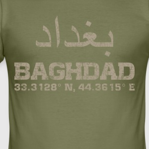 Baghdad iraq, coordinates T-Shirt arabic - Men's Slim Fit T-Shirt
