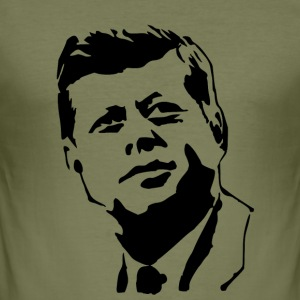 kennedy stencil - Herre Slim Fit T-Shirt