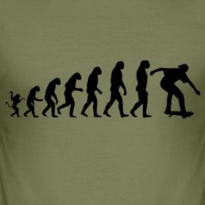 Skater Evolution - Männer Slim Fit T-Shirt