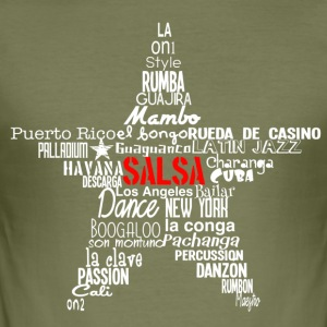 Salsa Star Shirt white - Mambo New York - Men's Slim Fit T-Shirt