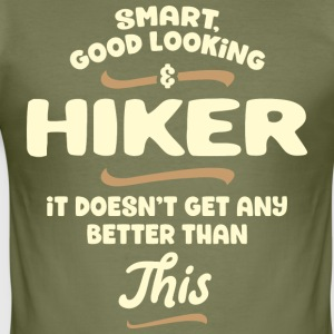 Intelligent, handsome and hiker ... - Men's Slim Fit T-Shirt