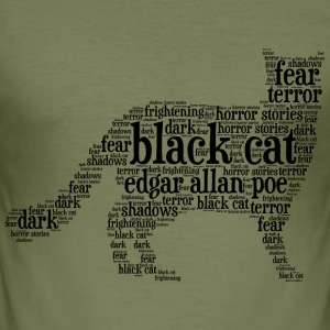 black cat edgar allan poe word cloud - Men's Slim Fit T-Shirt