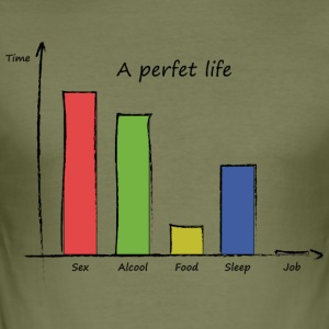 perfect life - Men's Slim Fit T-Shirt