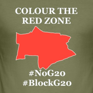 Color the red Zone - Men's Slim Fit T-Shirt