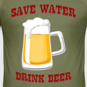 Bière - Save Water, Drink Beer - Tee shirt près du corps Homme