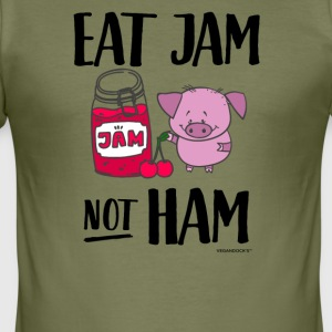 Eat Jam Not Ham - Männer Slim Fit T-Shirt