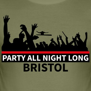 BRISTOL - Party All Night Long - Men's Slim Fit T-Shirt