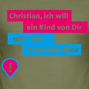 Christian blau pink - Männer Slim Fit T-Shirt