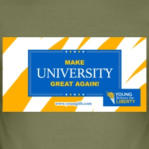 MUGA: Maak University Great Again - slim fit T-shirt