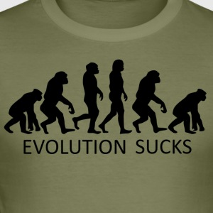 ++Evolution Sucks++ - Männer Slim Fit T-Shirt