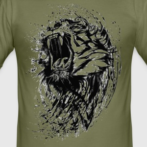 brusande tiger - Slim Fit T-shirt herr