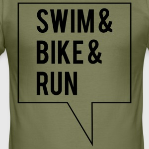 Swim Bike Run - Herre Slim Fit T-Shirt