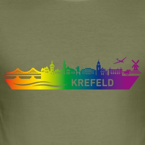Skyline KREFELD Rainbow - Slim Fit T-shirt herr