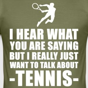 Funny Tennis Coach Gift Idea - Men's Slim Fit T-Shirt