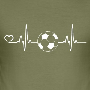 Football - battement de coeur - Tee shirt près du corps Homme