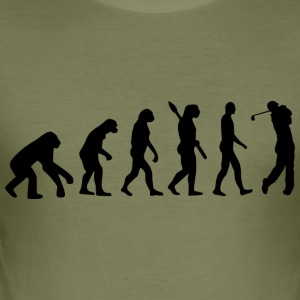 Evolution Golf Golfer Golf b - Herre Slim Fit T-Shirt