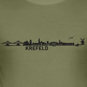 Krefeld skyline - Slim Fit T-skjorte for menn