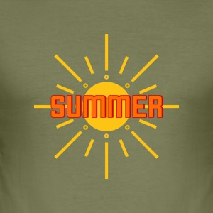 Sommar, sol, strand, party, semester - Slim Fit T-shirt herr