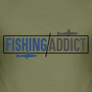 Fishing Addict - Männer Slim Fit T-Shirt