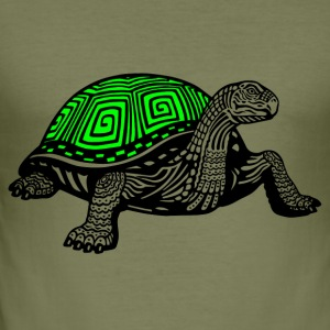 Turtle black - Men's Slim Fit T-Shirt