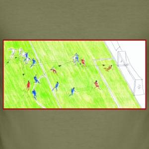 goal striker Giallorossi - Men's Slim Fit T-Shirt