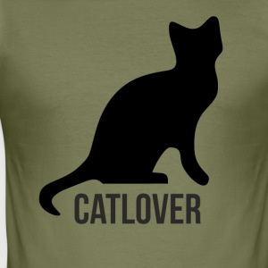 Catlover - Männer Slim Fit T-Shirt