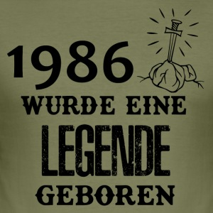 ++ 1986 ++ legend was born - Men's Slim Fit T-Shirt