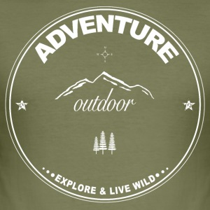 Adventure - Outdoor - Men's Slim Fit T-Shirt