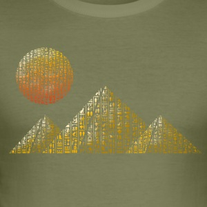 hieroglyffer pyramider - Herre Slim Fit T-Shirt