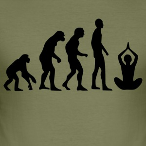 Human Evolution Yoga - Männer Slim Fit T-Shirt
