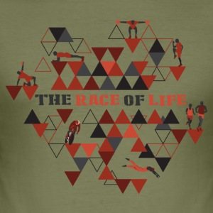 TheRaceOfLife - Männer Slim Fit T-Shirt
