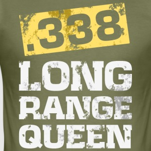 338 caliber long range rifle shooting t-shirt - Men's Slim Fit T-Shirt