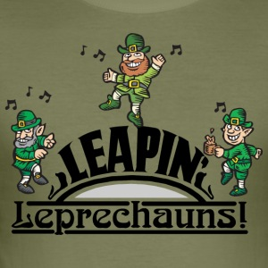 Irish Leaping Leprechauns - Men's Slim Fit T-Shirt