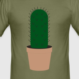Enkelt Cactus Scene - Slim Fit T-skjorte for menn