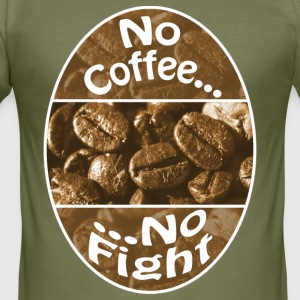 No Coffee No Fight - Männer Slim Fit T-Shirt