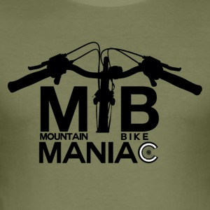 MTB Maniac - offroad Passion! - Slim Fit T-skjorte for menn