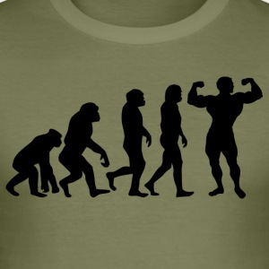 ++ ++ BODYBUILDING EVOLUTION - Slim Fit T-skjorte for menn