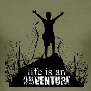 Life is an adventure - love for nature - Men's Slim Fit T-Shirt