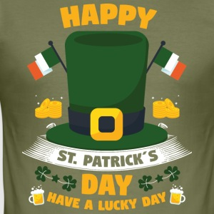 St Patricks day! St. Patricks dag! - Slim Fit T-skjorte for menn