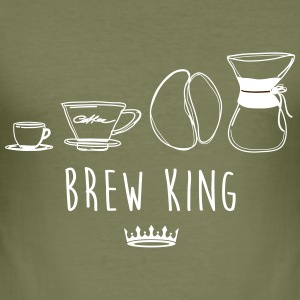 BREW KING - Slim Fit T-skjorte for menn