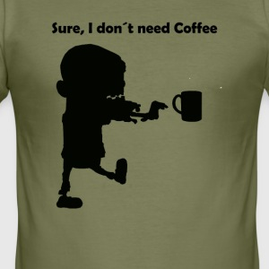 Kaffeeeeee - Slim Fit T-shirt herr