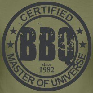 Certified BBQ Master 1982 Grillmeister - Men's Slim Fit T-Shirt
