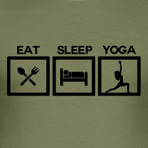 Eat Sleep Yoga - cyklus! - Herre Slim Fit T-Shirt