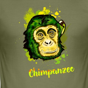 chimp monkey chimp Stadtaffe camouflage chill - Men's Slim Fit T-Shirt
