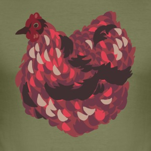 Thick chicken in red - Men's Slim Fit T-Shirt
